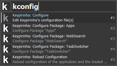 The 'Configure' items